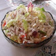 Zeleninový salát doplněný mozzarellou recept
