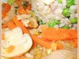 Sojové nudličky s mrkví a žampiony recept