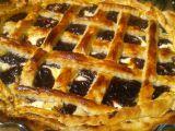 Sladký mřížkový koláč z listového těsta recept