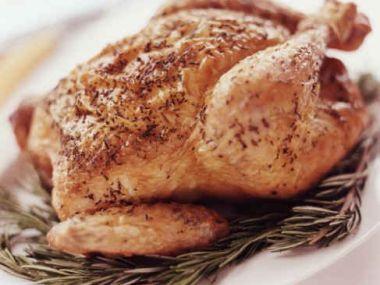 Pečené kuře recept (s jablky)