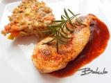 Kuřecí prsa se zapečenými kroupami recept