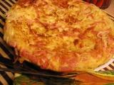 Smažené špagety se sýrem a šunkou recept