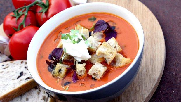 Italská tomatová polévka