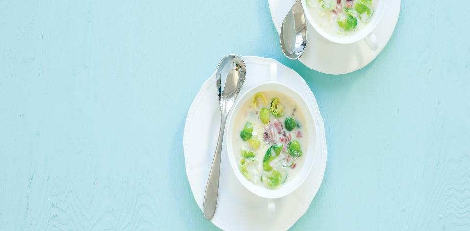 Polévka z růžičkové kapusty