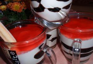 Jogurtové poháry  rychle a chutně