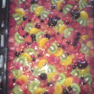 Ovocný želatinový letní koláč recept