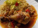 Kuřecí stehna na špeku, houbách a zelenině recept