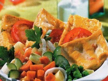 Opečené tofu se zeleninou