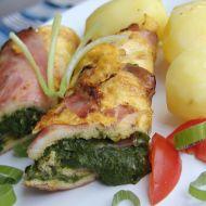 Vaječná omeleta plněná špenátem recept