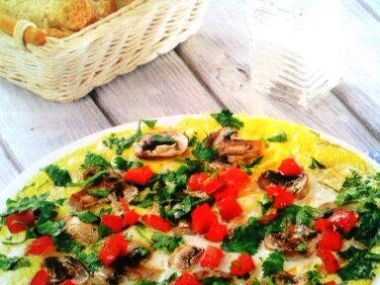 Omeleta se žampiony