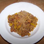 Čínské nudle s kuřecím recept