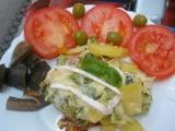 Brokolice s brambory,šunkou a sýry recept