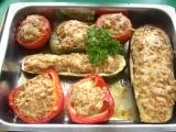 Zapečená zelenina s mletým masem recept