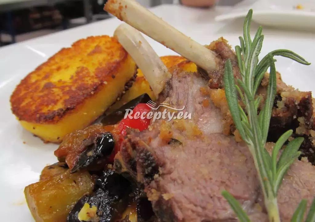 Jehněčí kotlety se zeleninou recept  jehněčí maso