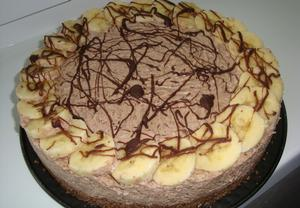 Tvarohový dort s banány