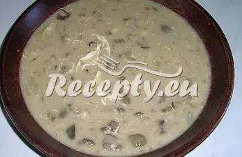 Hladká Ančka s houbami recept  polévky