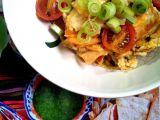 Migas (míchaná vejce s tortillou) recept