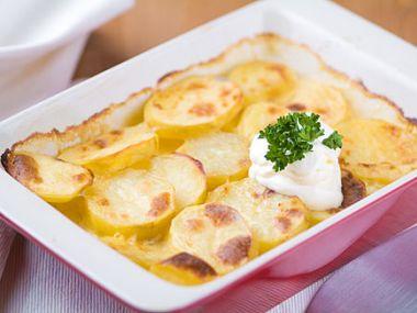 Recept Masová nádivka zapečená v bramborách