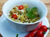 Salát z čočky a mangoldových řapíků recept