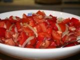Ostrý zeleninový salát recept
