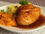 Marinované kuřecí prso s mrkvovým  zelím  recept