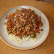 Špagety s vepřovým masem recept