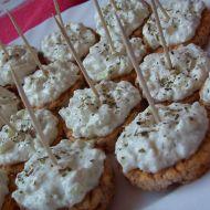 Racio jednohubky s mozzarella pomazánkou recept