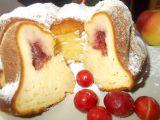 Bábovka s jablky, tvarohem s brusinkovým středem recept ...