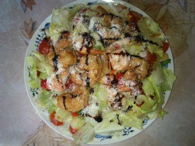 Salátek s krevetkami