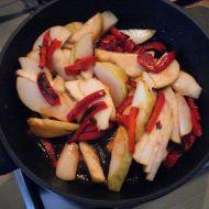 Červené papriky s hruškami recept