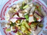 Pórkový salát s tofu recept