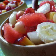Barevný melounový salát recept