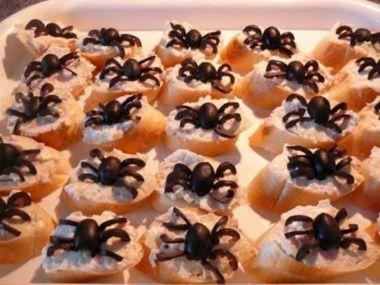 Pavoučci  na jednohubky, chlebíčky