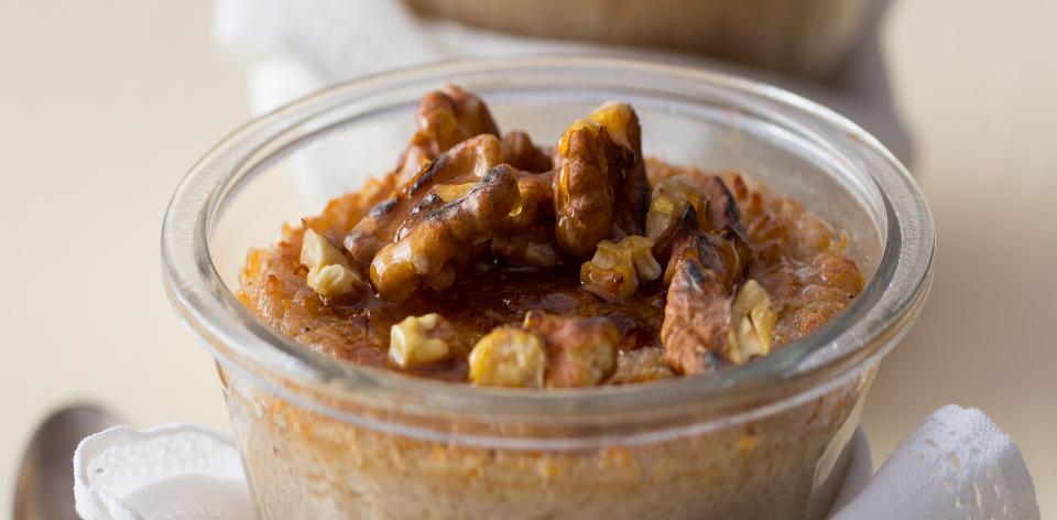 Pohankový dezert s ořechy a kokosovým mlékem