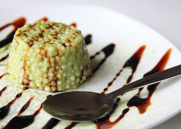 Matcha tapioca pudink recept