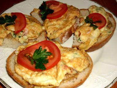 Vaječná omeleta se šunkou
