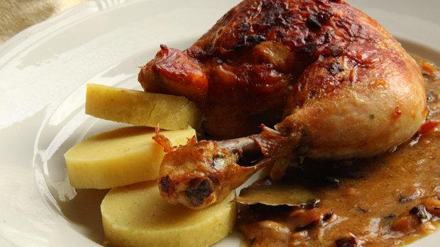 Kuře à la bažant