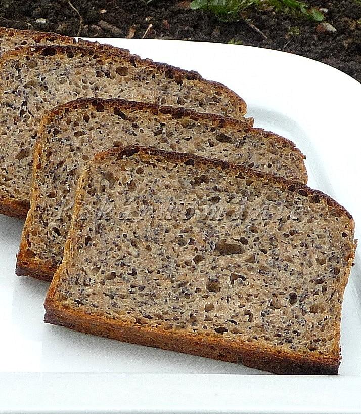 Žitný chleba se záparou a mákem recept