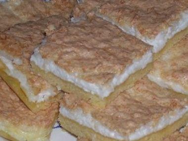 Tvarohový koláč s kokosem