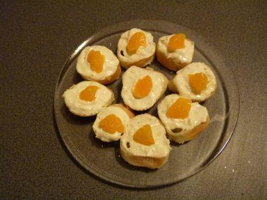 česnekové jednohubky s mandarinkou