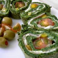 Rychlá špenátová roláda recept