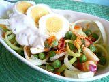 Pórkový salát s vajíčkem recept