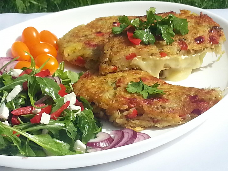 Smažený Hermelín v zeleninovém bramboráku recept