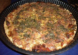 Quiche  koláč z Normandie recept