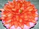 Nepečený jahodový dortík recept