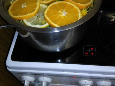 Pampeliškový med s citrónem a pomerančem