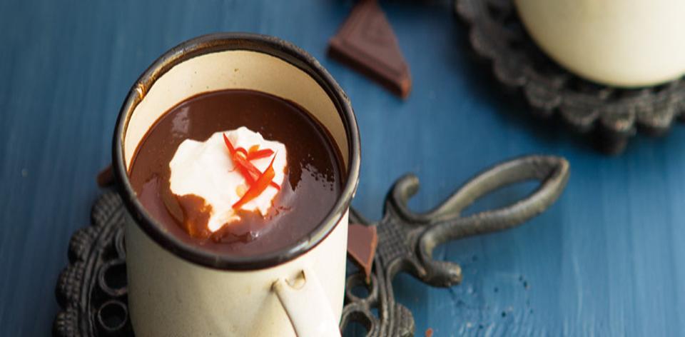 Horká čokoláda s chilli papričkou