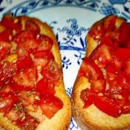 Rajčatová bruschetta s bazalkou recept