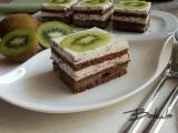 Kiwi řezy s krémem stracciatella recept