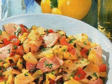 Selské brambory se salámem
